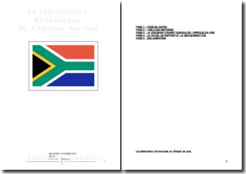 La colonisation britannique de l'Afrique du Sud