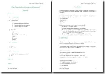Plan d'organisation de la journée du lancement de la nouvelle antenne de l'IMS-Entreprendre pour la Cité en Aquitaine