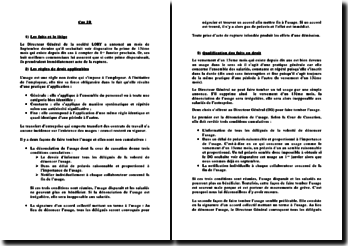 Résolution d'un cas pratique en droit du travail sur l'usage