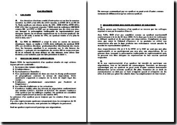 Résolution d'un cas pratique en droit du travail sur la représentativité d'un syndicat