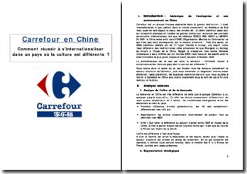Carrefour en Chine: comment réussir à s'internationaliser dans un pays où la culture est différente ?