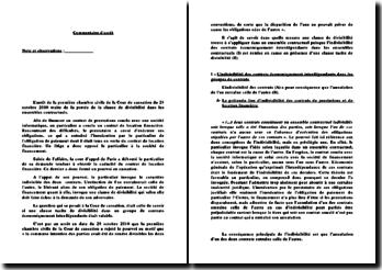 Arrêt de la première Chambre Civile de la Cour de cassation du 28 octobre 2010 : portée de la clause de divisibilité dans les ensembles contractuels