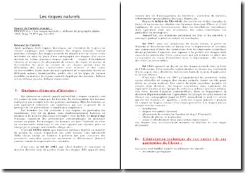 Revue de géographie alpine, « Les risques naturels » - L. Besson