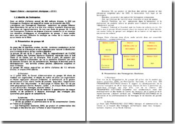 Analyse du management stratégique de la SAS Les Fromageries Occitanes