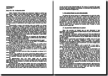 Commentaire d'arrêt de la Première Chambre civile de la Cour de cassation rendu le 14 décembre 2004: la détermination d'un prix futur