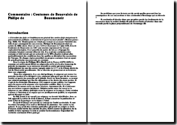 Coutumes de Beauvaisis, Chapitre XIV - Philipe de Beaumanoir: les conséquences des successions et des cérémonies d'hommage