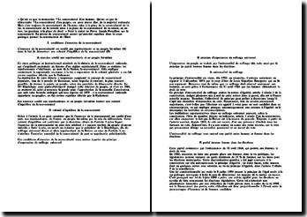 Commentaire sur la souveraineté: article 3 de la Constitution