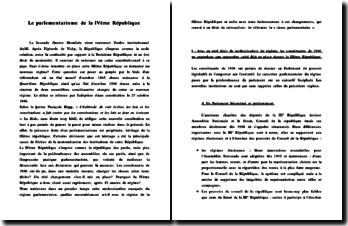 Le parlementarisme de la IVème République