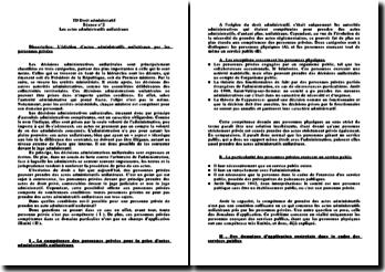 L'édiction d'actes administratifs unilatéraux par les personnes privées