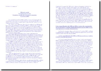 Commentaire d'arrêt de la Chambre sociale de la Cour de cassation, 3 octobre 2007: la requalification d'un CDD en CDI