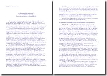 Commentaire d'arrêt de la Chambre sociale de la Cour de cassation rendu le 15 mai 2008: le report des congés payés