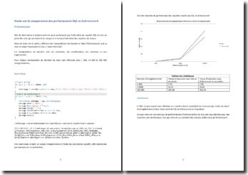 Etude sur la comparaison des performances SQL et Activerecord