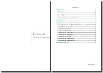 Présentation d'un système qui permet de manipuler un système de gestion de base de données: Activerecord