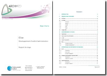 Le développement d'outils d'administration: la configuration ELISE