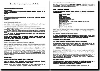 Convention de sponsoring/parrainage exclusif