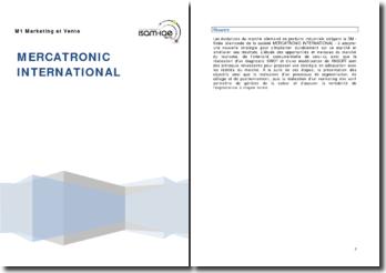 La société allemande Mercatronic International: fabrication et vente d'appareillages électriques pour automatismes industriels
