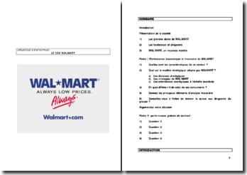 Le cas Wal Mart, commerce de détail généraliste américain