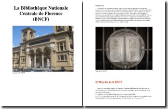 La Bibliothèque Nationale Centrale de Florence (BNCF)