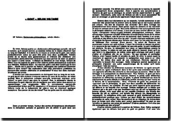 Dictionnaire philosophique , article «Goût» - Voltaire