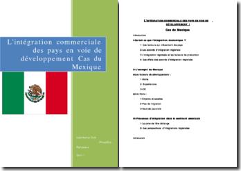 L'intégration commerciale des pays en voie de développement, le cas du Mexique