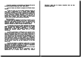 L'expansion européenne et l'impérialisme par Sternberg Fritz est tiré de l'oeuvre Le conflit du Siècle, Paris : Seuil : 1958, p.29-45