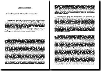 Les faux-monnayeurs: scène de l'expiation de «Voilà l'expiation» à «nous coucher» - André Gide