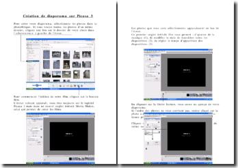 Création de diaporama sur Picasa 3