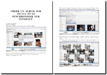 Créer un album sur Picasa et le synchroniser sur internet