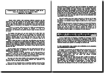 Commentaire de l'arrêt de la Première Chambre Civile de la Cour de cassation du 18 janvier 2012: la contribution aux donations des parents