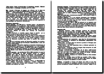 «États-nations, firmes multinationales et capitalisme mondial», Michalet Charles-Albert, in Sociologie et Société, vol XI n 2, 1979