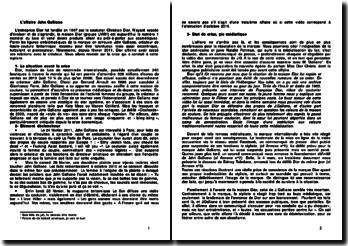 L'affaire John Galliano