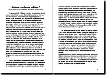 Antigone, une femme politique ?: lectures croisées des oeuvres de Sophocle, Robert Garnier, Anouilh et Cocteau