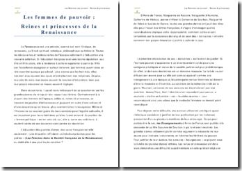 Les femmes de pouvoir : reines et princesses de la Renaissance