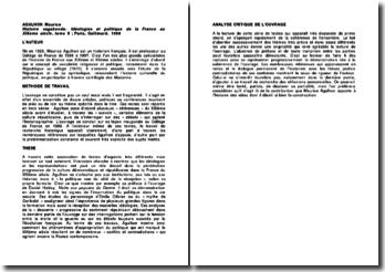 Histoire vagabonde. Idéologies et politique de la France au XIXème siècle, tome II, Agulhon Maurice