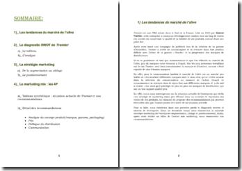 Les tendances du marché de l'olive, l'entreprise Tramier