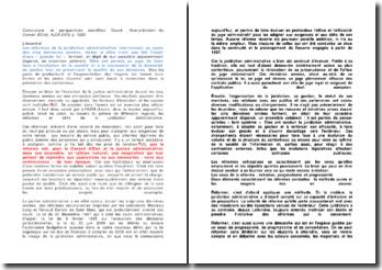 Conclusions et perspectives, Jean-Marc Sauvé , Vice-président du Conseil d'Etat, AJDA 2012 p. 1220