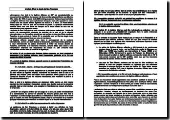 L'article 51 de la charte de San Francisco