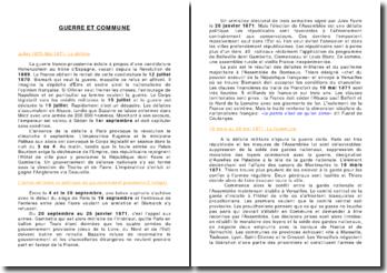 L'histoire de France: guerre et commune