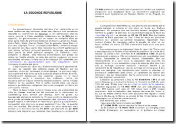 L'histoire de France: la Seconde République