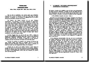 Commentaire de l'arrêt de la Chambre Criminelle de la Cour de cassation rendu le 30 juin 1999: atteinte involontaire à la vie d'un enfant à naître