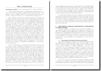 Commentaire de l'arrêt de la Chambre Criminelle de la Cour de rendu le 29 janvier 1986: contentieux relatif à la capacité que peut avoir toute personne - physique ou morale - à se constituer partie civile au procès