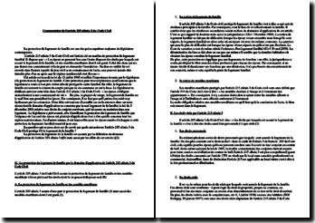 Article 215 alinéa 3 du Code civil: la protection du logement de famille