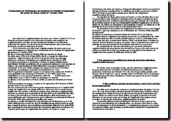 Commentaire de l'ordonnance du président du Chambre d'application des peines de Rouen, 7 octobre 2008: les réductions supplémentaires de peine