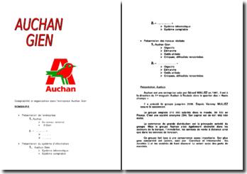 Comptabilité et organisation dans l'entreprise Auchan Gien