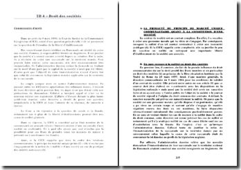 Commentaire de l'arrêt rendu le 9 mars 1999 par la Cour de Justice de la Communauté Européenne (CJCE): l'étendue de la liberté d'établissement