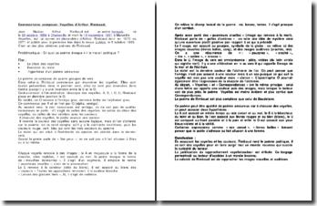 Commentaire composé: Voyelles d'Arthur Rimbaud