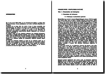 Société Dassault Aviation: mise à jour de la base comptable des immobilisations du mobilier de bureau et des machines pneumatiques