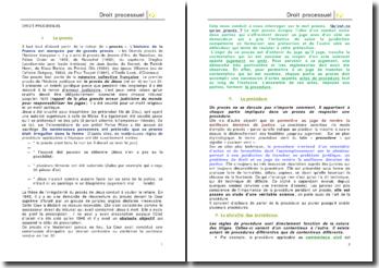 Le droit processuel: la comparaison entre la procédure civile, pénale et administrative