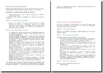 Etudes et recherches commerciales - approches qualitatives et quantitatives