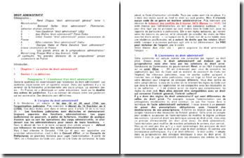 Les origines du droit administratif et l'action de l'administration
